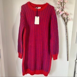 NWT COCOGIO ITALY / WOOL BLEND SWEATER DRESS